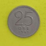 Швеція 25 ере, 1949р. Срібло., фото №2