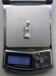 Кулон. Серебро. Вес - 2,97 г., фото №2