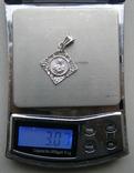 Кулон. Серебро. Вес - 3,07 г., фото №2