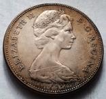 Канада 1 доллар 1967 / серебро, фото №3
