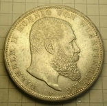 1913 год, Вюртемберг, 5 марок., фото №2