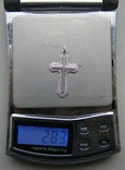 Крестик. Серебро 925 пр. Вес - 2,83 г., фото №2