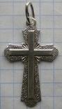 Крестик. Серебро 925 пр. Вес - 2,83 г., фото №3