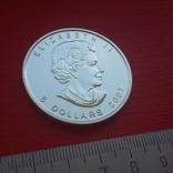 5 $ 2007 Канада унция 999,9 пробы, фото №6