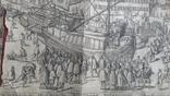 """Гравюра """"Отступление Ерцгерцога Матиаса из Нидерландов 1581 г."""" G. Baudartius 1616 г., фото №2"""