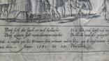 """Гравюра """"Отступление Ерцгерцога Матиаса из Нидерландов 1581 г."""" G. Baudartius 1616 г., фото №12"""