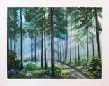 Картина, Утро в летнем лесу, 55х70 см. Живопись на холсте, фото №2