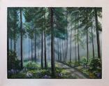 Картина, Утро в летнем лесу, 55х70 см. Живопись на холсте, фото №3