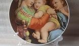 "Настенная тарелка ""Мадонна с детьми""/ 26см/ Бавария/ 1969-1993гг, фото №4"