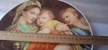 "Настенная тарелка ""Мадонна с детьми""/ 26см/ Бавария/ 1969-1993гг, фото №8"