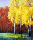 Картина, Контрасти золотої пори, 25х30 см. Живопис на полотні, фото №2