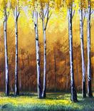 Картина, Золота осінь, 25х30 см. Живопис на полотні, фото №2