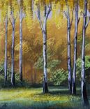 Картина, Поема золотої осені, 25х30 см. Живопис на полотні, фото №4