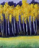 Картина, Осінні контрасти, 25х30 см. Живопис на полотні, фото №3
