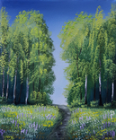 Картина, Стежина в літо, 25х30 см. Живопис на полотні, фото №3