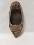 Пепельница в форме туфли,бронза., фото №3