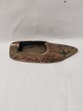 Пепельница в форме туфли,бронза., фото №4