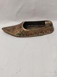 Пепельница в форме туфли,бронза., фото №6