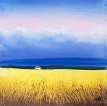 Картина, Закохана хмарина, 15х15 см. Живопис на полотні, фото №2