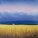 Картина, Закохана хмарина, 15х15 см. Живопис на полотні, фото №4