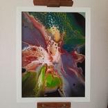 Картина/ живопис/ абстракція Fluid Art #11 acrylic, фото №4