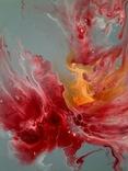 Картина/ живопис/ абстракція Fluid Art #14 acrylic, фото №8