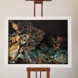 Картина/ живопис/ абстракція Fluid Art #15 acrylic, фото №5