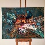 Картина/ живопис/ абстракція Fluid Art #16 acrylic, фото №3