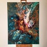 Картина/ живопис/ абстракція Fluid Art #16 acrylic, фото №4