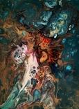 Картина/ живопис/ абстракція Fluid Art #16 acrylic, фото №7