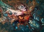 Картина/ живопис/ абстракція Fluid Art #16 acrylic, фото №8