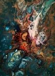 Картина/ живопис/ абстракція Fluid Art #16 acrylic, фото №9