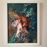 Картина/ живопис/ абстракція Fluid Art #16 acrylic, фото №12