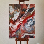 Картина/ живопис/ абстракція Fluid Art #17 acrylic, фото №2