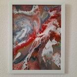 Картина/ живопис/ абстракція Fluid Art #17 acrylic, фото №6