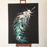 Картина/ живопис/ абстракція Fluid Art #20 acrylic, фото №6