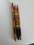 Ручки шариковые гуцульские времен ссср 3 шт, фото №5