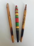 Ручки шариковые гуцульские времен ссср 3 шт, фото №2