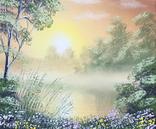 Картина, Теплый летний вечер, 25х30 см. Живопись на холсте, фото №2