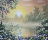 Картина, Теплый летний вечер, 25х30 см. Живопись на холсте, фото №3