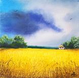 Картина, Весела хмарина, 15х15 см. Живопис на полотні, фото №2