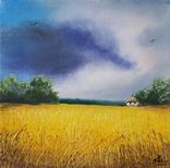 Картина, Весела хмарина, 15х15 см. Живопис на полотні, фото №3