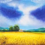 Картина, Знаки неба, 15х15 см. Живопис на полотні, фото №2