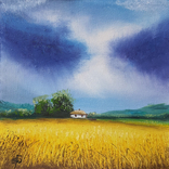 Картина, Знаки неба, 15х15 см. Живопис на полотні, фото №4