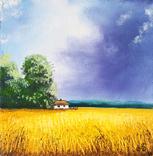 Картина, Голос неба, 15х15 см. Живопис на полотні, фото №2