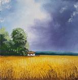 Картина, Голос неба, 15х15 см. Живопис на полотні, фото №3