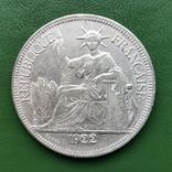1 пиастр Индокитай 1922 г. Серебро, фото №3