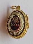 Кулон мощевик золото 925 камень серебро, фото №4