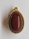 Кулон мощевик золото 925 камень серебро, фото №7