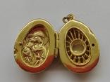 Кулон мощевик золото 925 камень серебро, фото №9